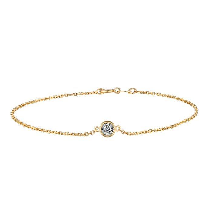 精緻18K金鑽石手鍊