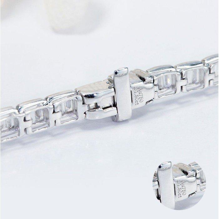 18K金滿鑽鑽石手鍊