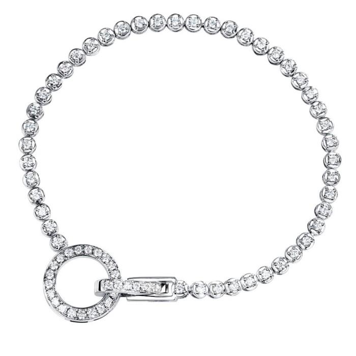 18K金圓型鑽石手鍊