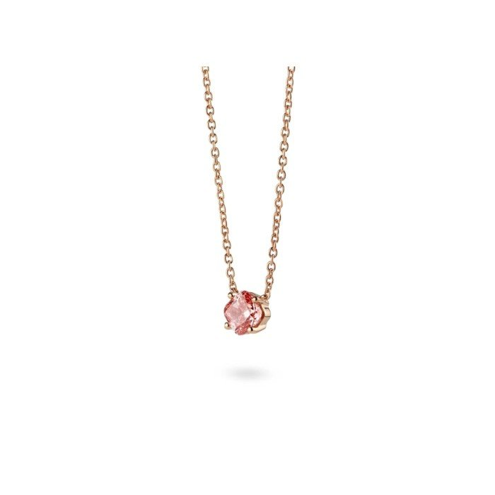 18K金CVD粉色彩鑽項鍊