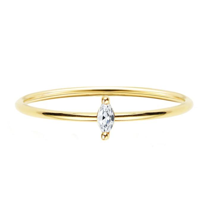 輕珠寶-簡潔0.05克拉鑽戒