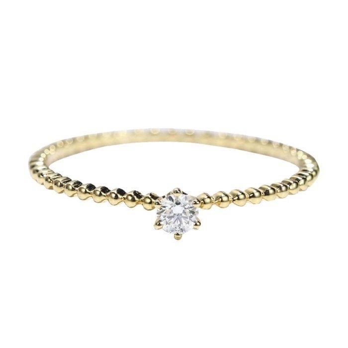 輕珠寶-0.07克拉圓形鑽戒
