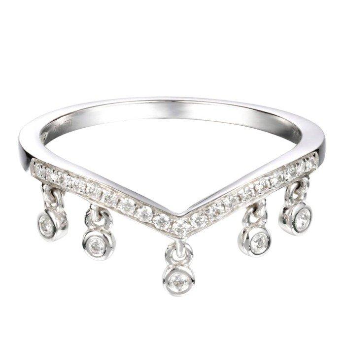 輕珠寶-0.12克拉流蘇鑽戒