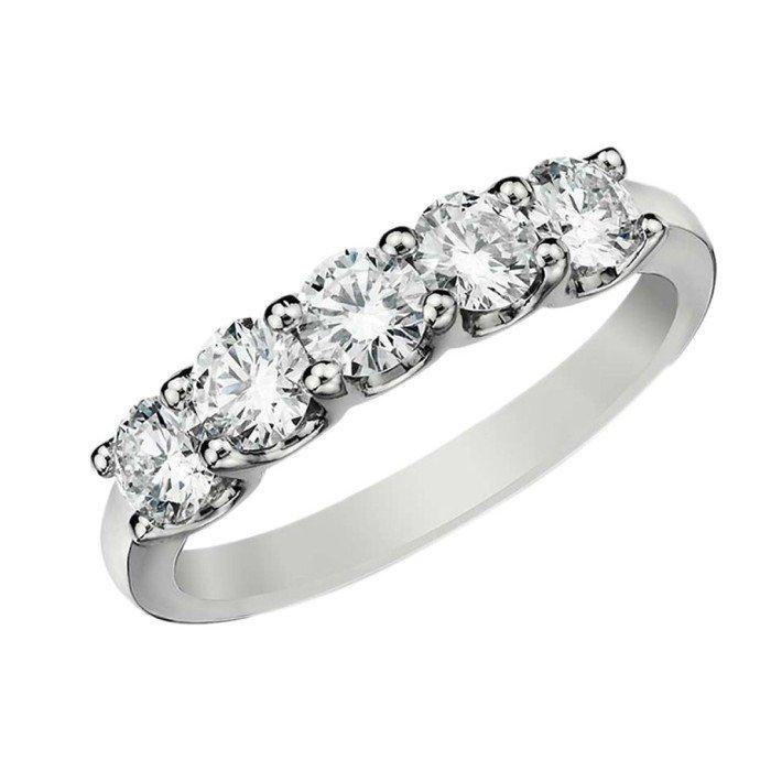 18K金1克拉天然鑽石排戒