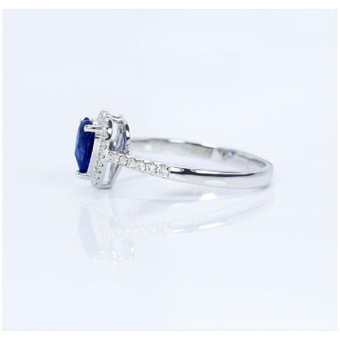 天然心形皇家藍藍寶石鑽戒
