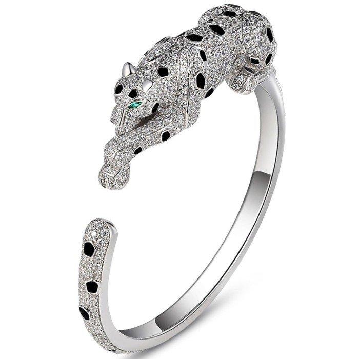 18k金豪華美洲豹鑽石手環