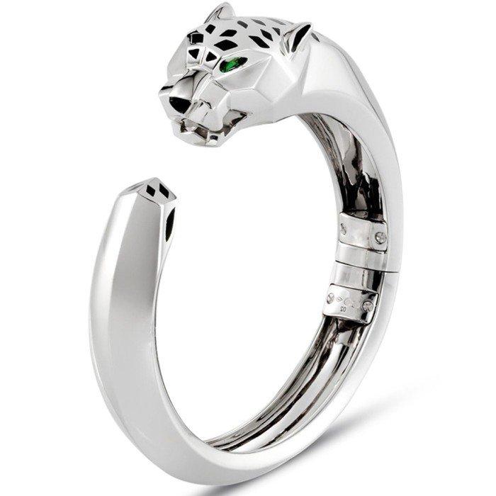 18k金光面美洲豹手環