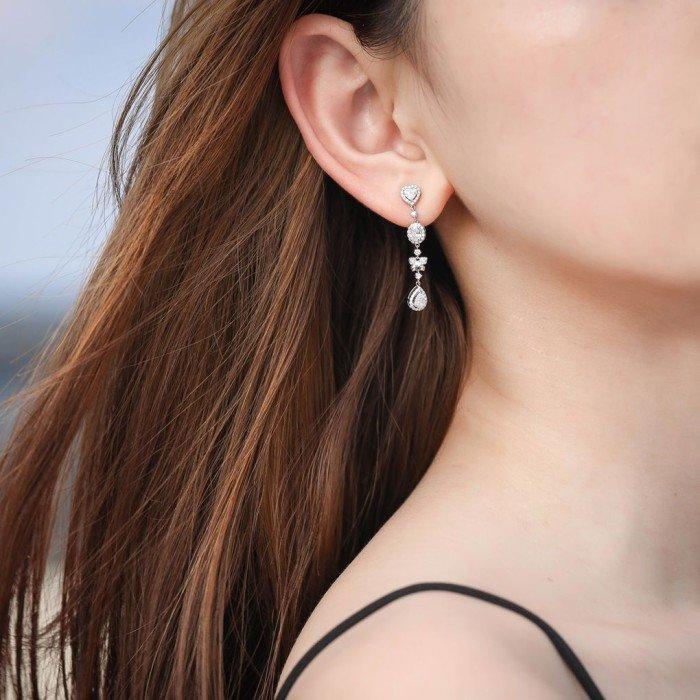 18K金豪華鑽石耳環
