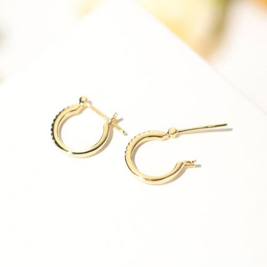 天然0.10克拉鑽石耳環