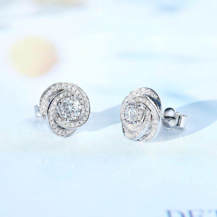 18K金伯爵款鑽石耳環