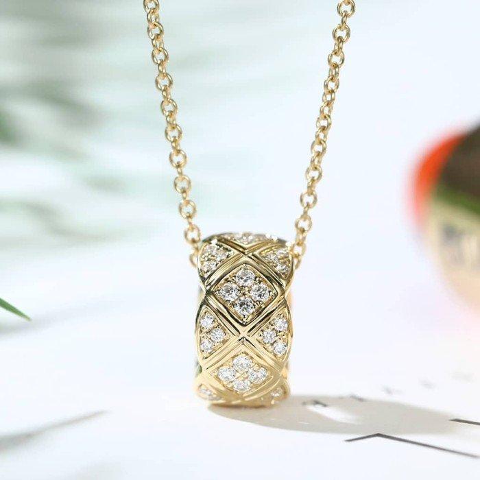 交叉時來運轉鑽石項鍊