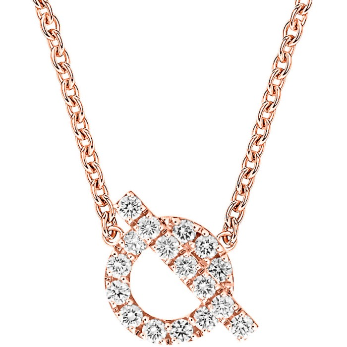 18K金凱莉鑽石項鍊