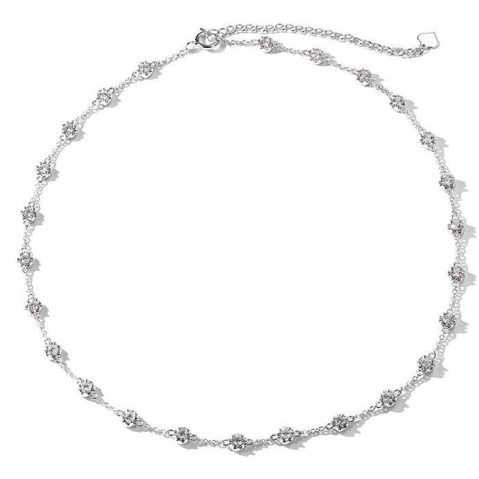 奢華18K金天然鑽石頸項鍊