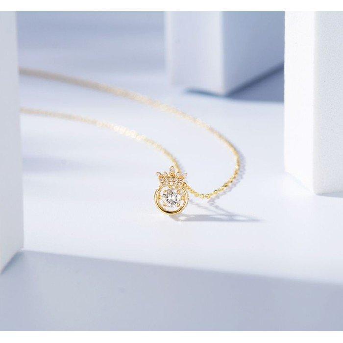 靈動18K金天然鑽石項鍊