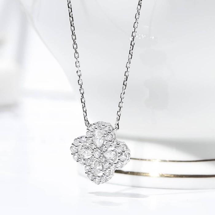 0.57克拉四葉草鑽石項鍊