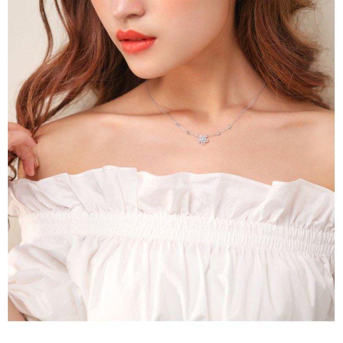 18K金櫻花款式鑽石項鍊