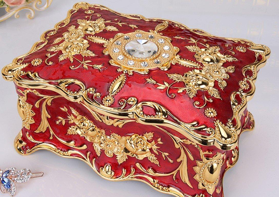 歐式創意復古雙層珠寶盒