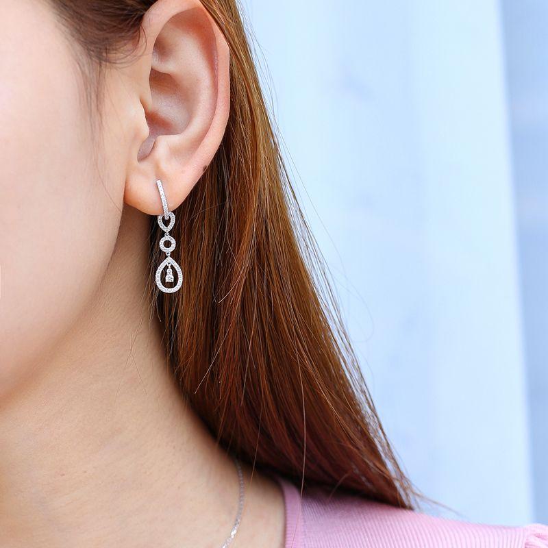 18K金三用鑽石耳環